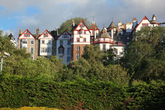 Sundown at Edinburgh, UK royalty free stock photos