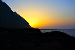 Sundown at El Hierro Stock Photo
