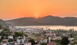 Sundown at Fethiye Stock Image