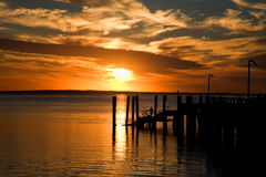 Sundown. The sundown on Fraser Island Royalty Free Stock Photos