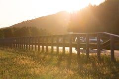 Sundown on german highway Stock Image