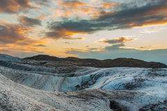 Sundown on the glacier Royalty Free Stock Image