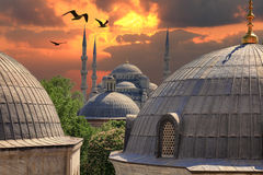 Sundown in Istanbul Royalty Free Stock Images