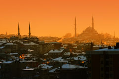 Sundown in Istanbul Stock Photo