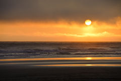 Sundown at Kalaloch beach, Stock Images