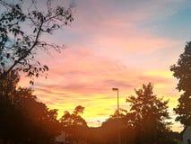 Sundown. In Kassel royalty free stock photo