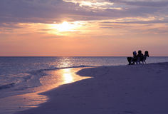 The sundown on the Maldives Royalty Free Stock Images