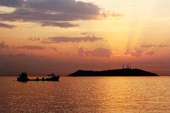 Sundown on Marmara sea Stock Photography