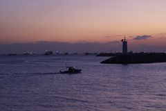 Sundown on Marmara sea Royalty Free Stock Photography