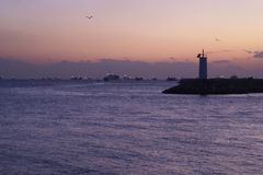 Sundown on Marmara sea 2 Royalty Free Stock Photo
