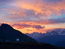 Sundown in mountain Royalty Free Stock Images