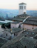 Sundown Over Assisi Stock Photography