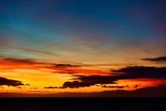 Sundown over Atlantic Ocean. Seascape - Sundown over Atlantic Ocean Stock Image