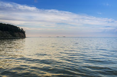 Sundown over Baltic sea in Poland Royalty Free Stock Image