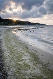 Sundown over Baltic seaside Stock Photography