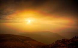 Sundown over the Beskid Stock Photo
