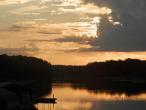 Sundown over Lake Eufaula Stock Photography