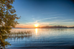 Sundown over an lake Royalty Free Stock Photos