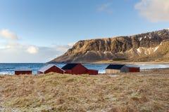 Sundown over Lofoten Islands Stock Photo