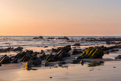 Sundown Over The Pacific Ocean Stock Photo