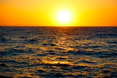 Sundown over sea Royalty Free Stock Photography