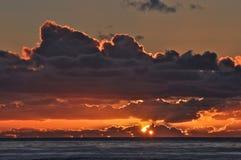 Sundown on the Pacific Stock Image