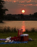 Sundown picnic Stock Photography
