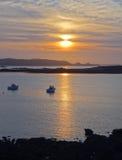 Sundown at Pink Granite Coast Stock Photo