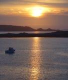 Sundown at Pink Granite Coast Stock Photography