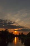 Sundown river 3 Stock Images