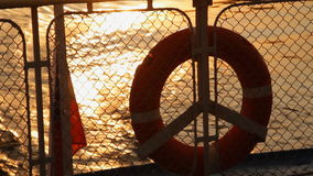 The Sundown on river stock video footage