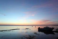 Sundown at Rock coast, Lake Baikal, Russia Royalty Free Stock Photos
