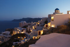 Sundown of Santorini island Royalty Free Stock Images