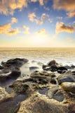 Sundown at sea Royalty Free Stock Image