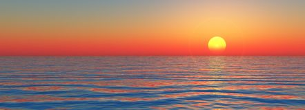 Sundown on sea Royalty Free Stock Image