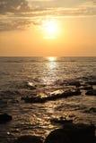 Sundown on sea. Sundown on red sea. sundown on red sea Royalty Free Stock Photos