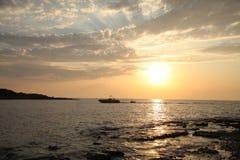 Sundown on sea Royalty Free Stock Photo
