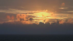 Sundown at sea. Video of sundown at sea stock video footage