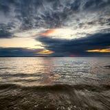 Sundown seascape stock photos