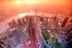 Sundown at Shanghai , China Stock Photo