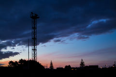 Sundown Siren Tower Royalty Free Stock Images