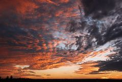 Sundown Sky Stock Images