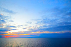 Sundown in Sweden flag colors Royalty Free Stock Photography