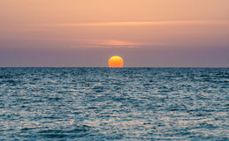 Sundown in Tel Aviv. Sunset over Mediterranean Sea in Tel Aviv, Israel stock photos