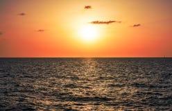 Sundown in Tel Aviv Royalty Free Stock Photos