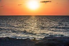 Sundown in Tel Aviv Stock Images