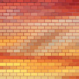 Sundown themed background with brick grid Royalty Free Stock Image