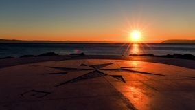 Sundown time lapse. Sundown on the Tucepi town beach, time lapse stock video