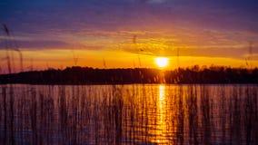 Sundown to lake Royalty Free Stock Photos