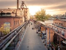 Sundowner at 798 art district in beijing, china stock photo